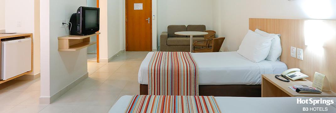 Apartamento luxo Solteiro - Hotsprings B3 Hotels