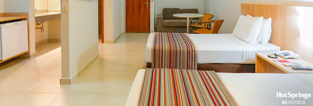 Apartamento super luxo Solteiro - Hotsprings B3 Hotels